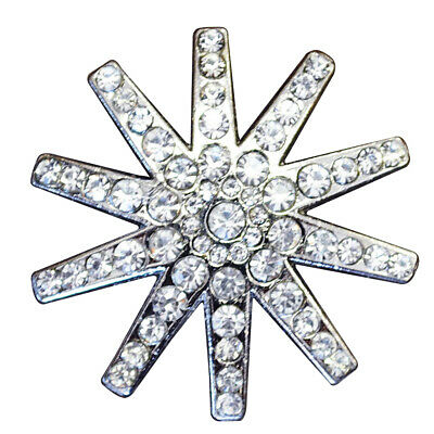 U-Ty08 Set Of 8 Clear Rhinestone Spur Conchos Bling Headstall Tack Cowgirl