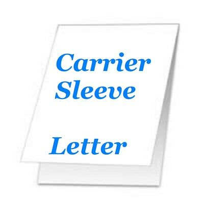 Carrier Sleeve For Laminating Laminator Pouches 5 pk Letter Size Coated