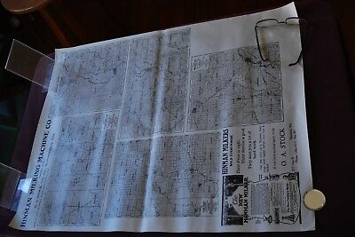 Antique Wisconsin Hinman Milking Dairy COUNTY PLAT MAP