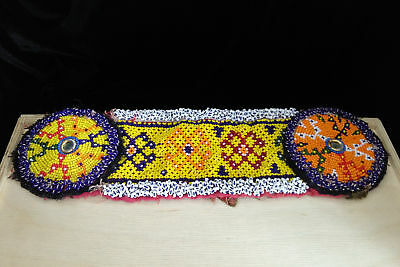 Vintage Kuchi Beaded Patch Belt Connector Headband Base ATS Belly Dance