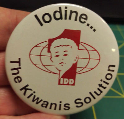 Kiwanis Button - Iodine The Kiwanis Solution button We combine & ship worldwide