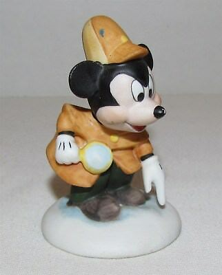 Mickey Mouse Detective Bisque Figurine, Franklin Mint The Disney Collection 1987