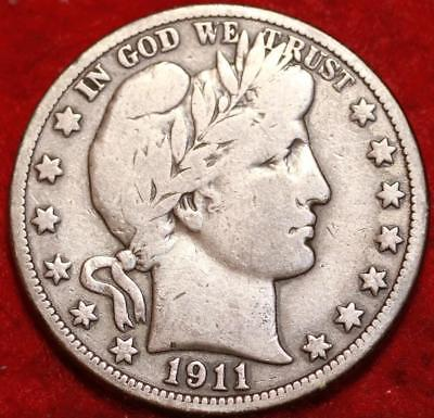 1911-S San Francisco Mint Silver Barber Half Dollar