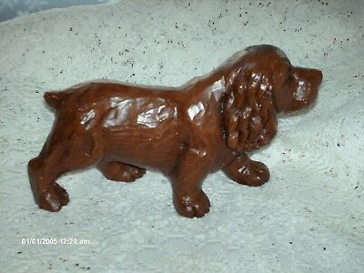 RARE Red Mill Mfg SUSSEX SPANIEL - Pecan Shell Composite  Wood Carving Look MINT