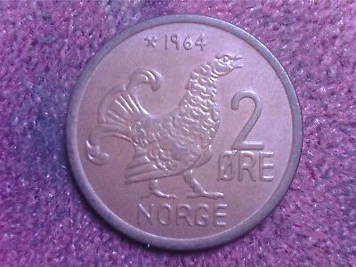 Norway  2  Ore   1964   Free  Shipping