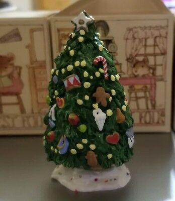 Wee Forest Folk 1985 Chris-Mouse Tree Christmas M-124 MIB