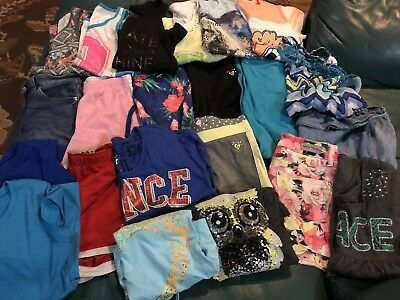 Huge Lot Justice Clothing Tanks Tees Shorts Capris Girls Size 10-12