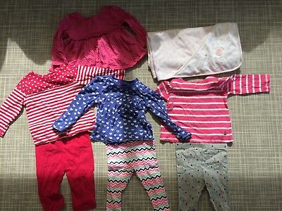 Bulk baby girl clothing autumn winter size 6-12 months 0 1 (8 items)