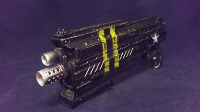 Nerf Rival ATLAS  Painted Weathered BLACK with Magazine and Balls WOW FREE SHIP