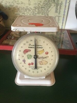Vintage Retro American Family Scale White Up To 25lbs