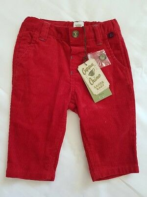 Baker Boy by Ted Baker Size 00 BNWT Red Cord Trousers