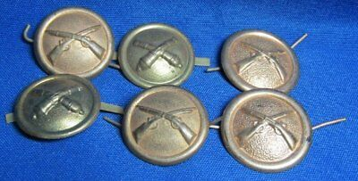 Indian Wars Army Infantry & Artillery Hat Buttons Sets Lot Of 6