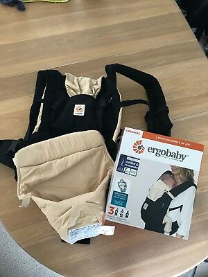 Ergo Baby Original Carrier and Infant Insert Ergobaby Boxed Good Condition