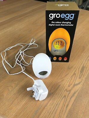 Gro Company Gro Egg Baby Thermometer and Night Light Groegg Good Condition