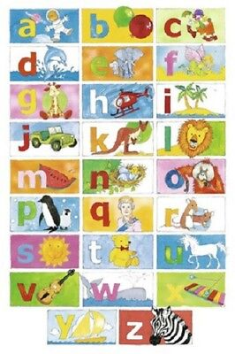 (Laminated) Abc Alphabet Educational Poster (61X91Cm) New Print Art
