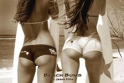Beach Bums Pinup Jason Ellis POSTER (61x91cm) New Print Art