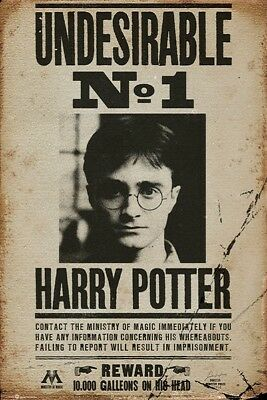 Harry Potter Undesirable No 1 Poster (61X91Cm) New Print Art