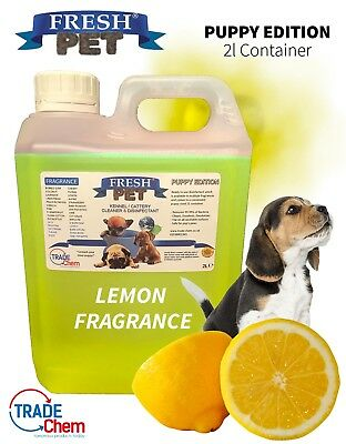 FRESH PET - PUPPY EDITION Pet Kennel Disinfectant / Deodoriser LEMON