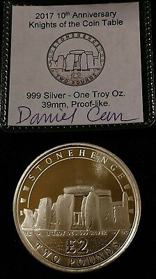 Daniel Carr 2017 1 oz .999 Silver Knights of Coin Table Stonehedge Knight RARE !