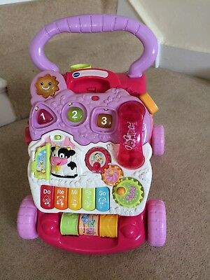 2 In 1 Childrens Baby Walker Musical Sounds Activity Push Along Toy Multicolour