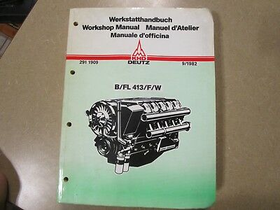deutz f6l413v f8l413 f10l413 f12l413 engines owner operator rh picclick com Deutz F4M2011 Manual Deutz Engines Bf 4M 2012