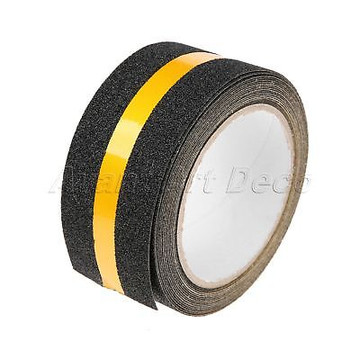 1 Roll 5M Yellow Reflective Non Slip Tape High Traction Indoor Outdoor Stairs