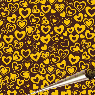 5 Pieces Heart Shaped Chocolate Transfer Sheet 21*33cm
