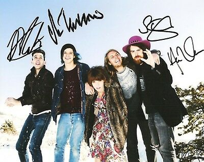 Grouplove Signed 8X10 Photo Proof Coa Autographed Tongue Tied 2