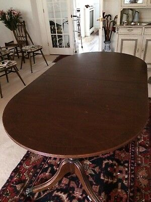 Antique Reproduction Mahogany Veneer extending Dining Table