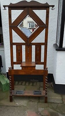 Antique Edwardian Wooden Coat Stand
