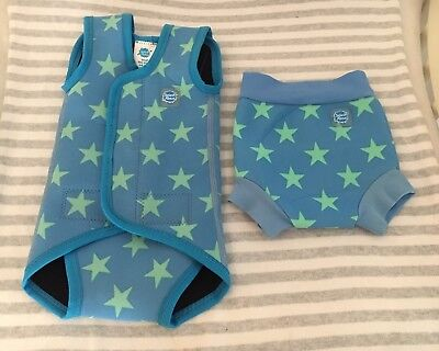 Splash About Stars Happy Nappy Costume & Baby Wrap Wetsuit Size Small.0-6 Months