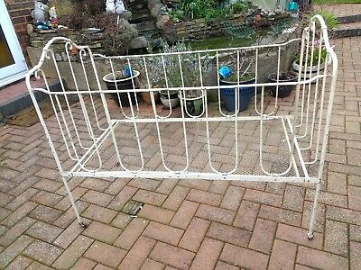Victorian folding Wrought Iron Baby Child's Cot Crib