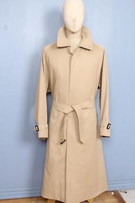 STUNNING Mens BURBERRY Single Breasted TRENCH Coat Mac Beige 46/48