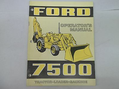 ford 6500 7500 tractor loader backhoe repair time schedule manual rh picclick com Ford Backhoe 555C Ford 750 Backhoe Hyd