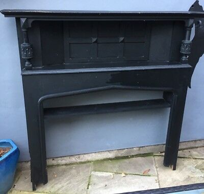 Original Victorian School Fire Surround