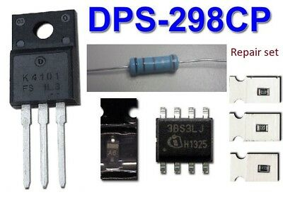 PSU repair kit for DPS-298CP: 2SK4101 + ICE3BS03LJ + SMD