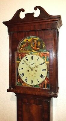 Beautiful Victorian Scottish Mahogany Longcase Clock C1840