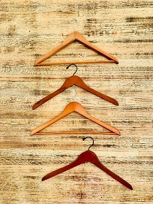 Lot Assorted Wood Clothes Hangers