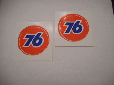 2 Union 76 2 and a half Inch Round Gas Station Decal Sticker Original Unocal