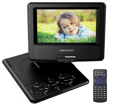 DBPOWER 7.5-Inch Portable DVD Player with Rechargeable Battery, SD Card Slot and
