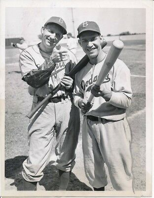Brooklyn Dodgers Pete Reiser & Dixie Walker Original Type I photo 1946