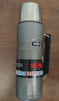 Thermos King Stainless 40-oz Vacuum-Insulated Food/Beverage Bottle Tumbler Gray