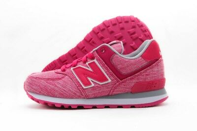 New Balance 574 KL574VOP Pink White Canvas Casual Shoes Medium Youth