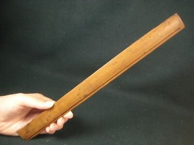 Antique Taisho Era Japanese Bamboo  Jyougi Ruler Measure