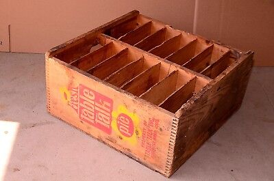 Vintage Table Talk Pie Large Wooden Crate Display Or Carrying