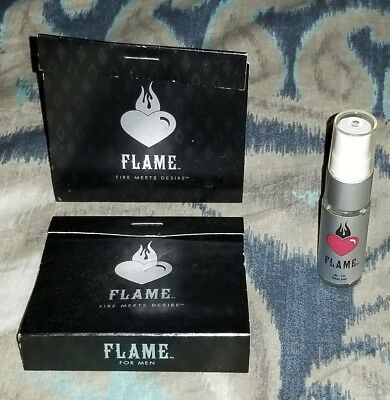 "2008 Burger King Whopper Scent Cologne ""Flame"" Empty Promo Bottle with 2 Sleeves"