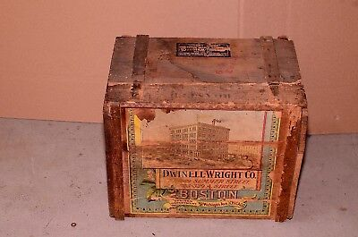 Rare Vintage Dwinell-Wright Company Royal Blend Coffee Advertising Wooden Box