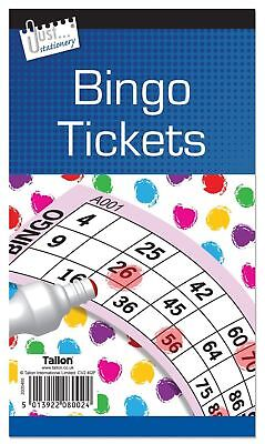 Jumbo Bingo Book Pad of 600 Tickets 6 to view all colours Tallon Brand