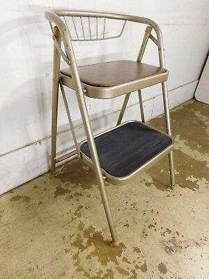 1960s Classic Folding Kitchen Stool Ladder Helper CLEAN WILL HOLD YOU STEADY!