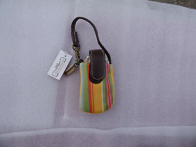 Longaberger Sunflower Stripe Cell Phone Wristlet Carry Case Free Shipping